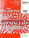 New English File Elementary Workbook keys